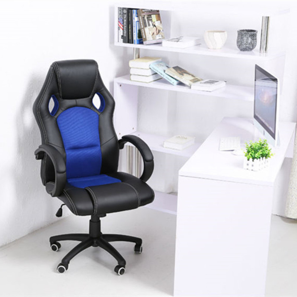 1PC PU Leather Executive Bucket Seat Racing Style Office Chair Computer Desk Task HC-7801H racing bucket seat office chair high back gaming chair desk task ergonomic new hw54987ltbl