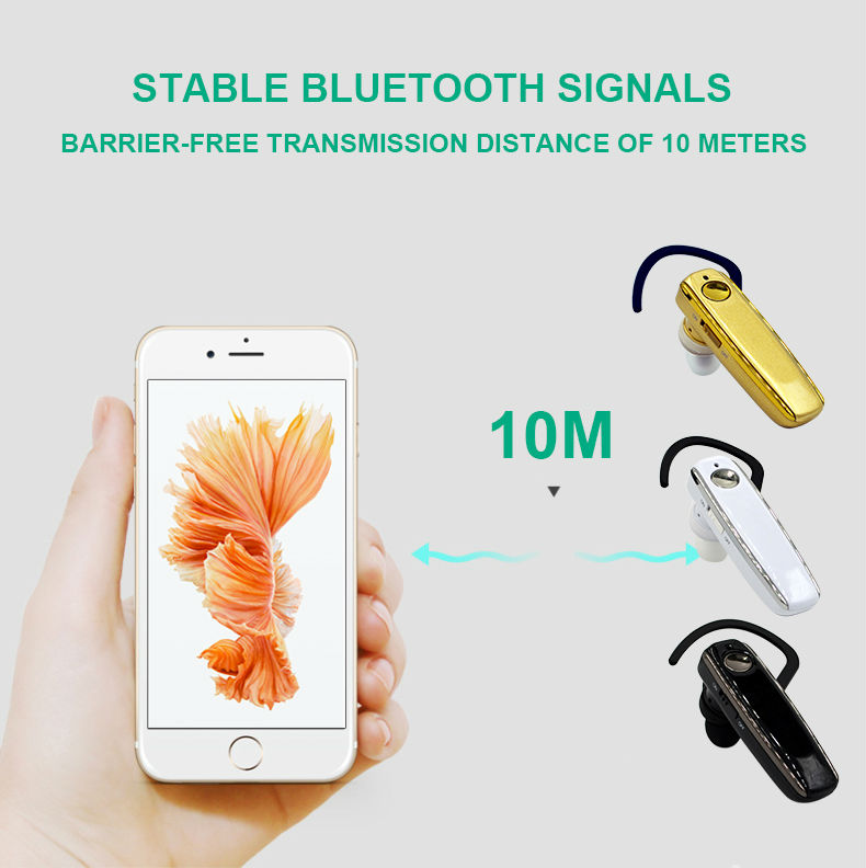 7 Long standby stereo music wireless Bluetooth headset dual microphone noise-canceling earphones and headphone Business headset