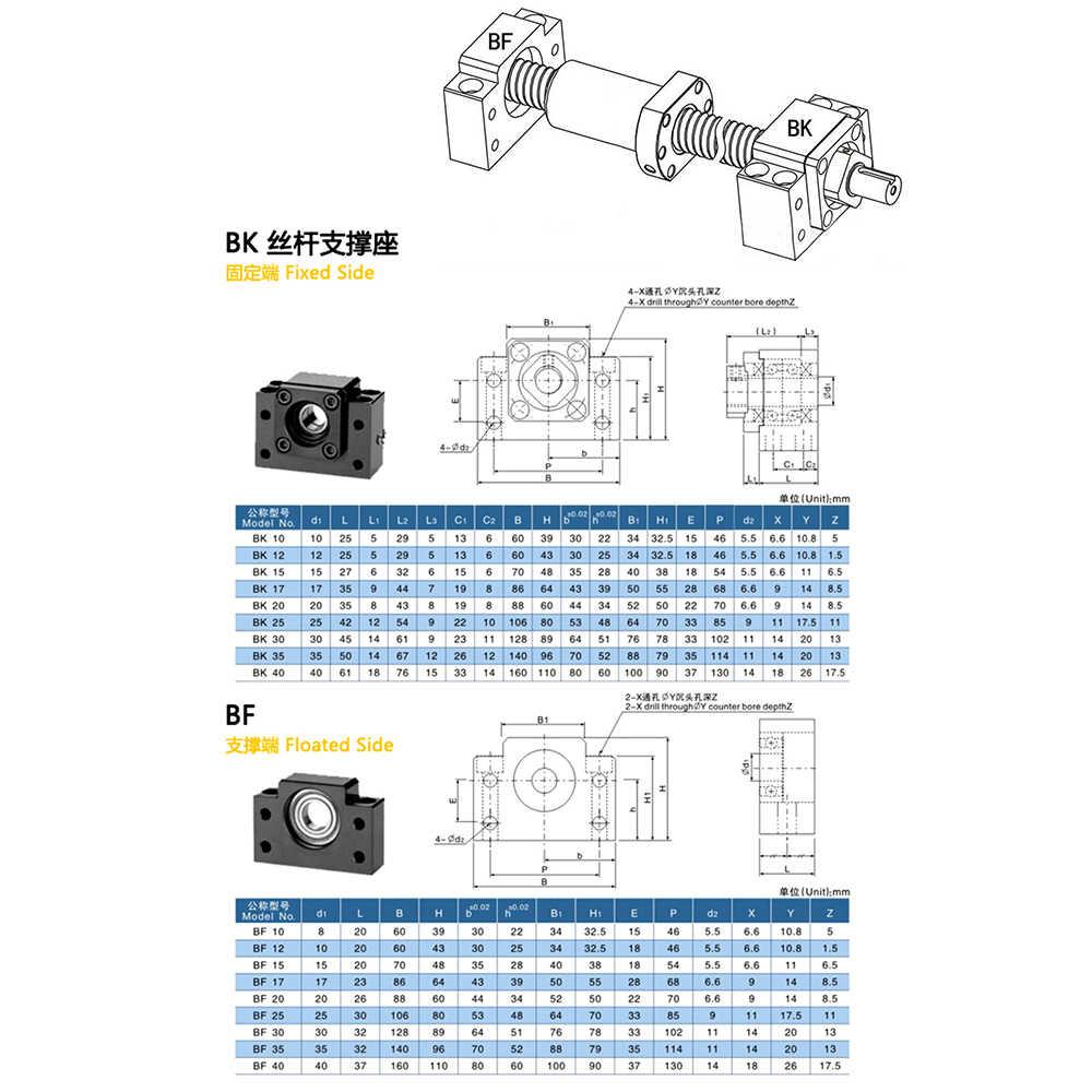 1 pz BK10 BF10 BK12 BF12 BK15 BF15 FK10 FF10 FK12 FF12 FK15 FF15 EK10 EF10 EK12 EF12 Unità di Supporto per Vite A Sfere SFU1605 SFU1204