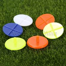 100 шт плоский круглый Крест пластиковый мяч для гольфа разметка