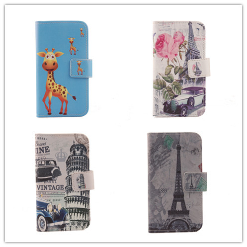 """Luxury Hot Flip Cover Skin Pouch With Card Slot Drawing Design PU Leather Case Phone Case For THL 4000 4.7"""" Zoll Dual SIM 2"""