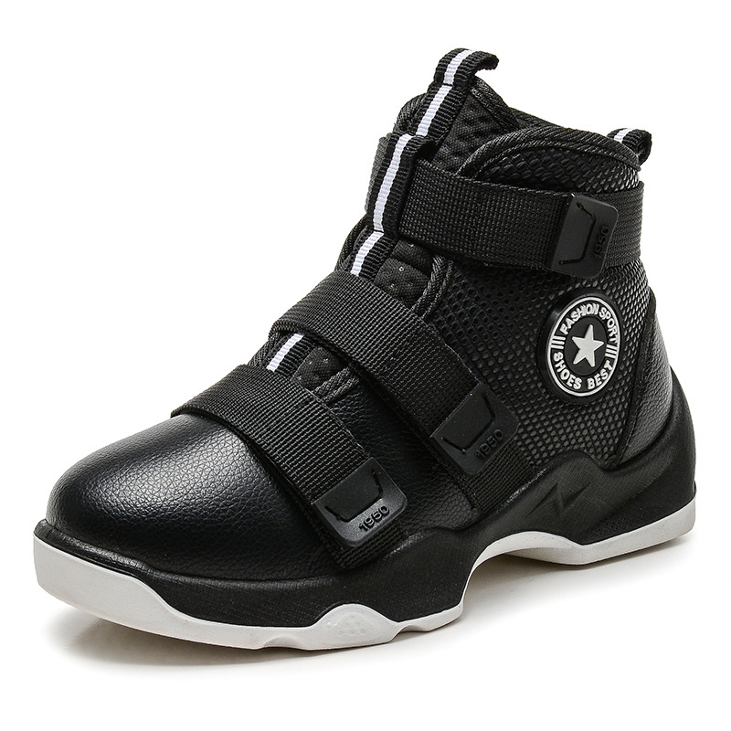 HOBIBEAR Sport Children Casual Shoes For Kids Sneakers Boys Shoes Girls Sneakers Genuine Leather Sport Trainers Hook&Loop 2018
