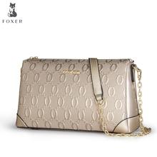 FOXER Mode frauen Leder-umhängetasche Luxus Handtaschen Frauen Umhängetaschen Damen Umhängetasche Feminina Für Taschen
