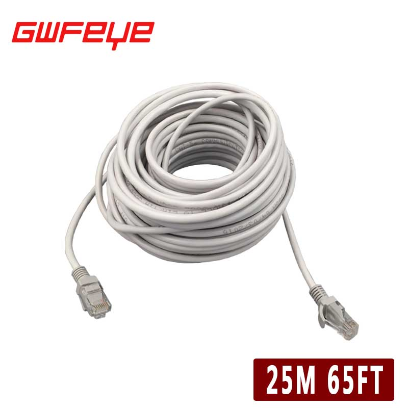 GWFEYE 20M 65ft CAT5 RJ45 Ethernet Internet Network Patch Lan Cable Cord Tools For POE Camera Computer Laptop