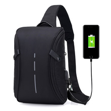 2019 Casual Messenger Bag Men Crossbody Bag USB Charging Design Chest Bag Pack Anti Theft Male Travel Shoulder Crossbody bags sinpaid anti theft messenger bag crossbody casual designer shoulder bag anti theft zipper and buckle color black blue