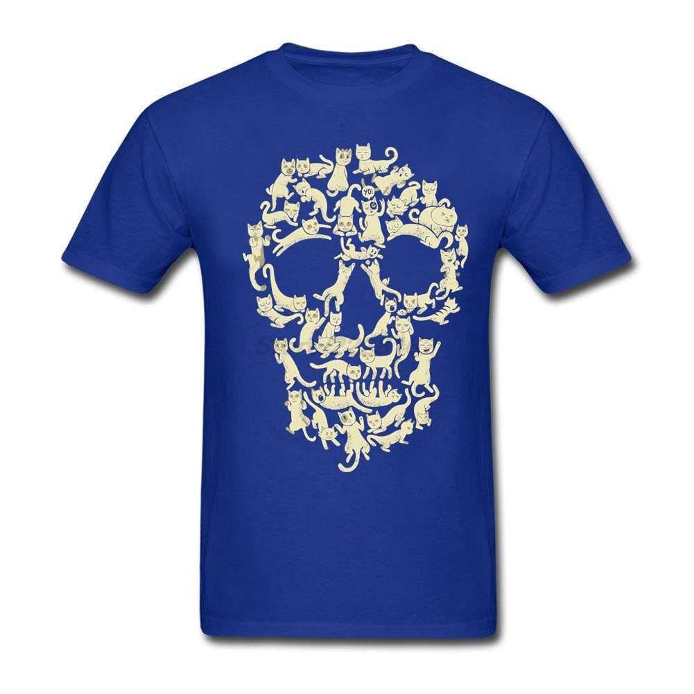 Мужские футболки с кошачьим черепом, Популярная оптовая продажа, футболки с принтом Kawaii, футболки с винтовым горлом вечерние Blusa