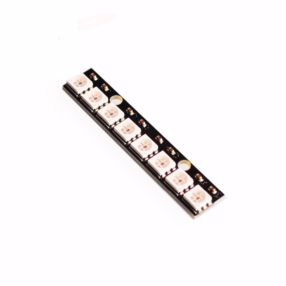 Free Shipping Quality 10PC 8its WS2812 5050 RGB LED Development Board With Driver Built In Full Color Led PCB Board Led Module