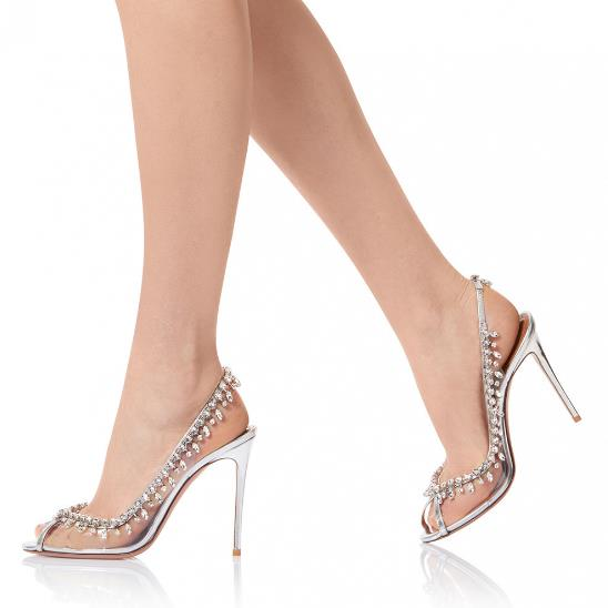 2019 New Peep Toe Transparent Side Rhinestone Studded Shoes Woman Slip On Thin Heels Sexy Women Pumps High Heel Fashion2019 New Peep Toe Transparent Side Rhinestone Studded Shoes Woman Slip On Thin Heels Sexy Women Pumps High Heel Fashion