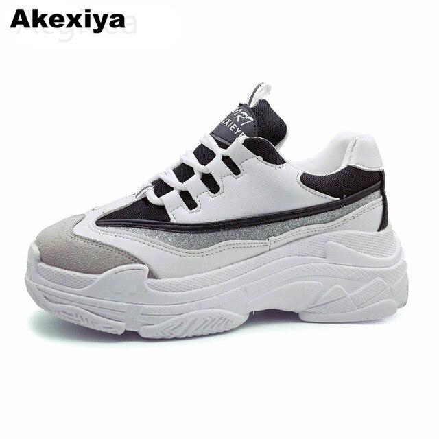 bbacfd3793e4e Akexiya talla grande 43 2018 nuevos zapatos de primavera para mujer zapatos  casuales zapatos de plataforma