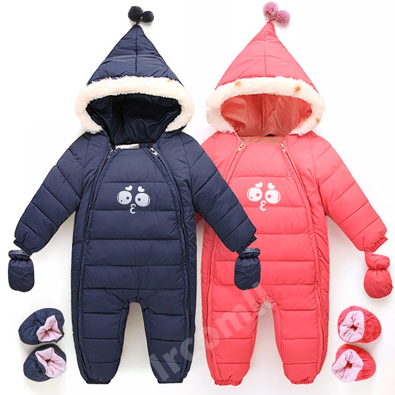 Sardiff Brand Down Baby Rompers Winter Thick Boys Dark Blue Girls Warm Infant Snowsuit Kid Jumpsuit Children Outerwear 0-18m russia winter boys girls down jacket boy girl warm thick duck down