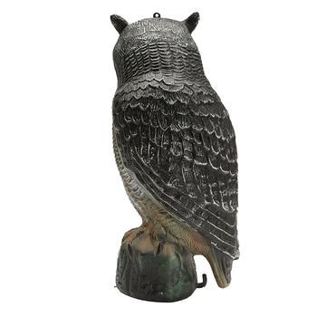 Большая Реалистичная приманка для охоты на открытом воздухе с прямой головкой, для борьбы с вредителями, ворона, поддельная сова, садовые пр...