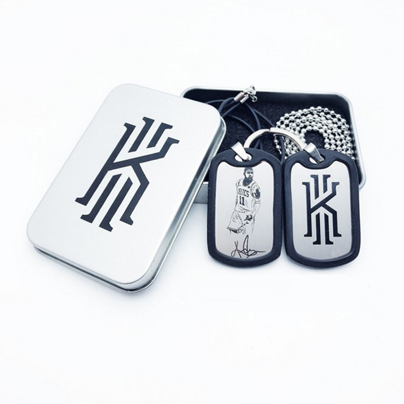 Basketball Football Star Sporty Top Quality Stainless Steel Key Chain And Necklace With Exquisite Packing Box Jewelry Wholesale