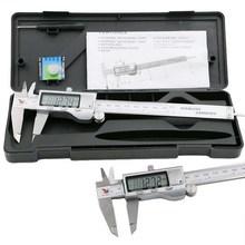 1 PCS Metal 6-Inch 150mm Stainless Steel Electronic Digital Vernier Caliper Micrometer Measuring  Tools Vernier Calipers VEP39