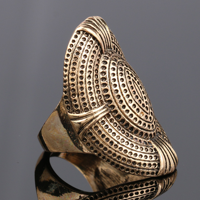 Gold Plated Vintage Punk Rock Ring