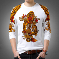 Cashmere Cotton Slim Fit Sweater Men Clothes 2018 Autumn Winter Fashion Dragon Mens Sweater Casual Soft Blouse Man Pullovers