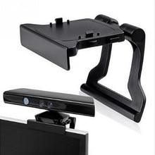 Ajustable TV Clip para Monitor montaje abrazadera plegable soporte para Microsoft Xbox 360 Xbox360 Kinect Sensor Cámara soporte