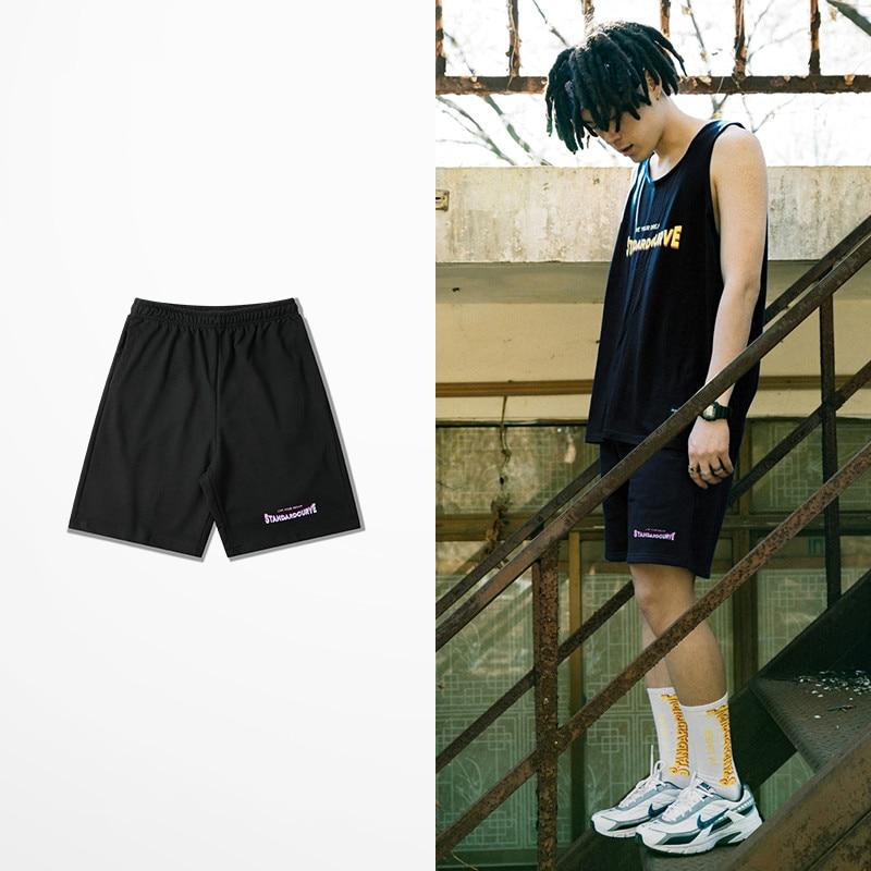Standard Curve Live Your Dream Letter Print 100% Cotton Short Pants Male 2019 Summer Harajuku New Fashion Leisure Shorts Men