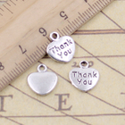 10pcs Charms Heart T...