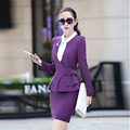 Women Skirt Suits 2016 New Fashion Candy Color Long Sleeve Autumn Winter Top and Ruffles Skirt Set Hot Sale Women Two Pieces Set