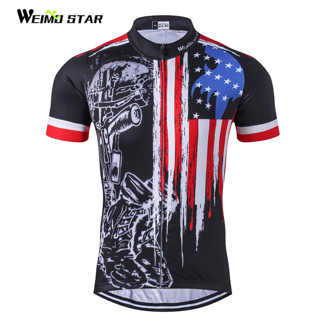 Skull Cycling Jersey Men bike clothing bicycle top Ropa Ciclismo maillot MTB  short sleeve Team Racing T-shirt Sports Black Red bf9033aa1