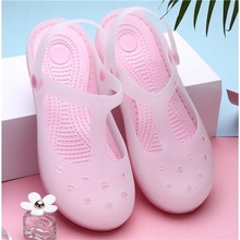 Droshipping 2019 New Candy Color Large Size Thick Sandals Woman Croc Anti-Skid H