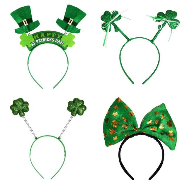 Irish St Patricks Day Headband Green Leprechaun hairband Shamrock Buckle  Fancy Dress Carnival Christmas accessories party favor e0c12cecd81d