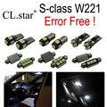 24 unid X Error LED libre de la lámpara Kit de Luz Interior Para Mercedes para Mercedes-benz clase S W221 S430 S55 S63 AMG AMG S65 AMG (2006 +)