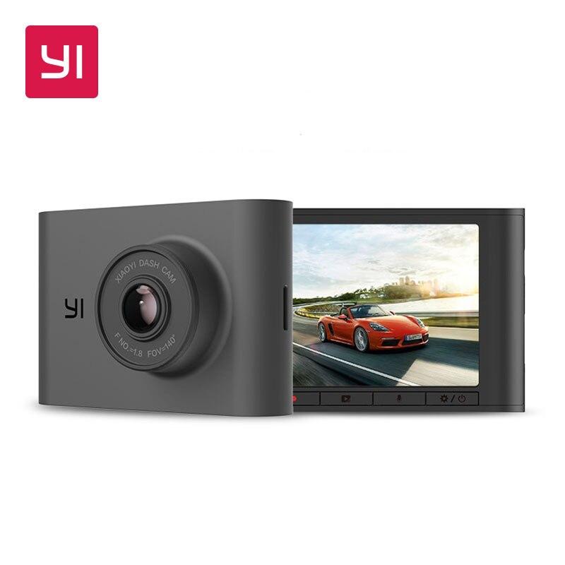 YI Nightscape Câmera Traço 2.4 polegada ADAS Tela LCD 140 Lente Grande Angular de Visão Noturna HD 1080P Carro DVR câmera do painel do Veículo
