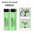 2 unids original ncr18650b 3.7 v 3400 mah 18650 recargable de litio de la batería para panasonic