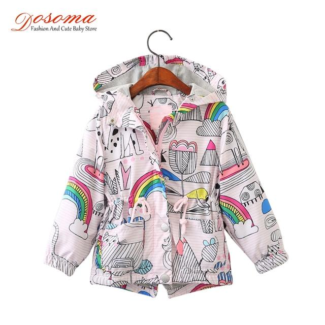 59f0060cb DOSOMA 2018 New Spring Baby Coat And Jackets For Girls Cartoon ...