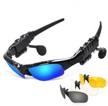 New Sunglasses sport Bluetooth Headset noise cancelling Headphones Music Earphone For iphone 7plus all Smart Phone PC Tablet