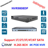 H 265 POE NVR 8Channel NVR Support 8MP 6MP 5MP 4MP 3MP 2MP 1MP POE IP