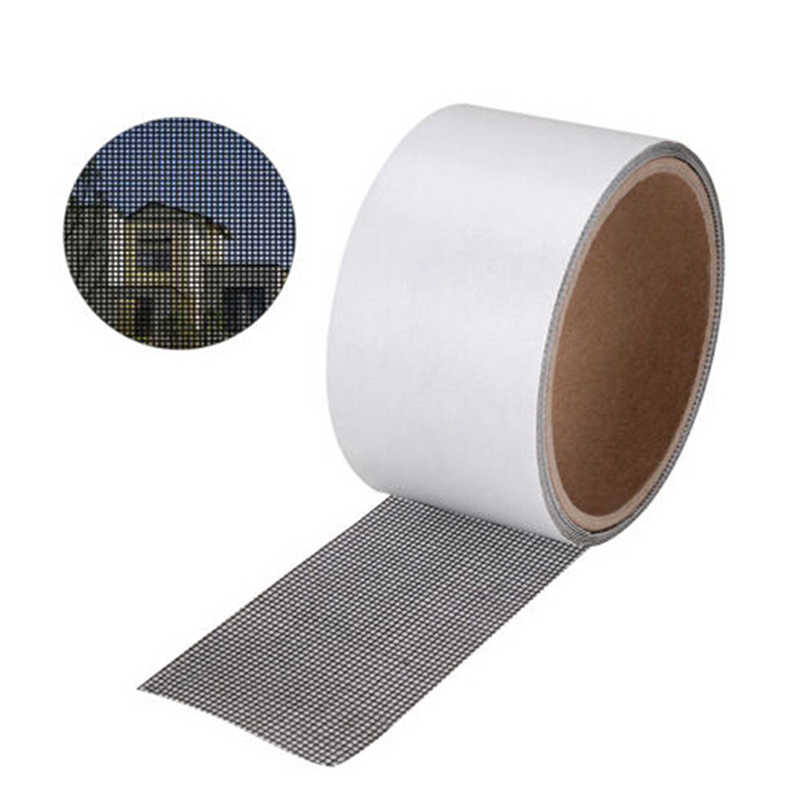 hot Anti-mosquito Mesh Sticky Wires Patch Repair Tape Summer Screen Window Door Mosquito Netting Patch Repair Broken Holes
