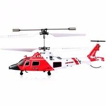 S111G 3CH Mini symulacja armii pilot zdalnego sterowania helikopter z Gyro nietłukące światła LED USB kabel RC kryty helikopter