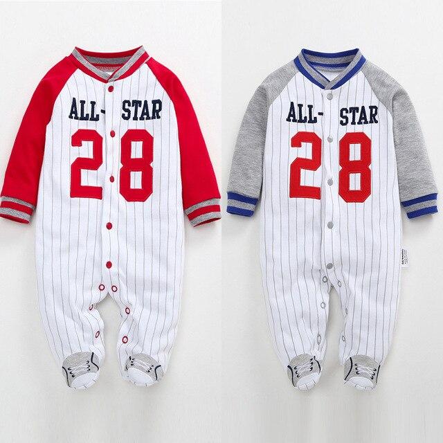 Natal Do Bebê Recém-nascido Footies Outono Inverno Listrado Manga Comprida Macacão Pijama Bebê Meninos Roupas Bebes 3-12 M
