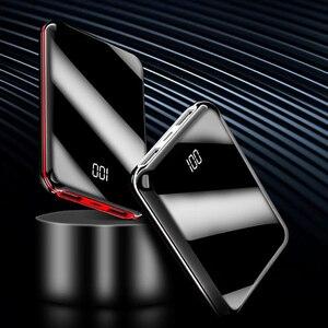 Image 4 - 10000mah mini power bank Tragbare USB Batteria Ladegerät power externe batterie pover bank für iPhone X Samsung xiaomi Huawei