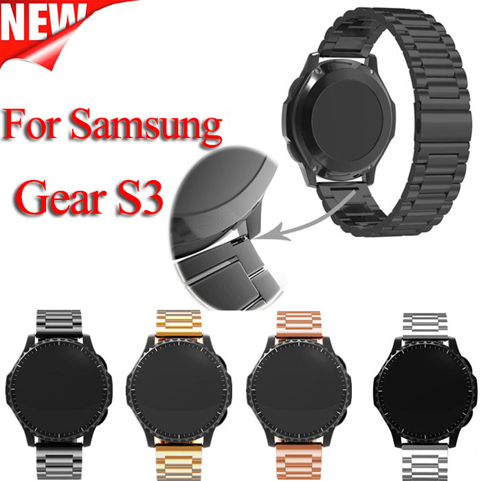For Samsung gear s3 Smart Watch Metal Strap 3 link BraceletStainless Steel Band watch Bracelet