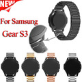 Para samsung gear s3 smart watch correa de metal 3 enlace braceletstainless acero banda reloj de pulsera