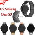 Para samsung gear s3 smart watch correa de metal 3 enlace braceletstainless acero banda reloj de pulsera