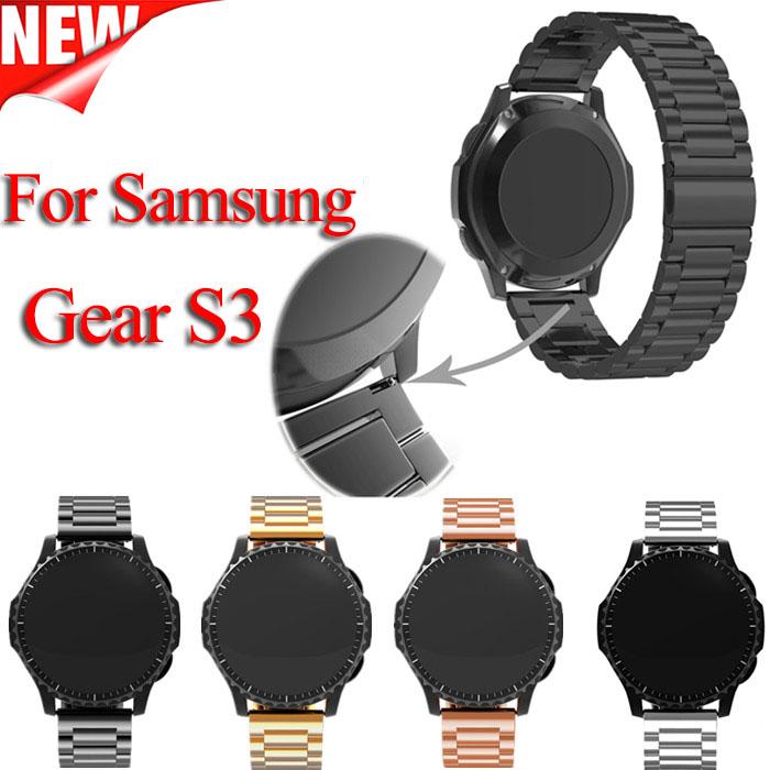 Prix pour Pour Samsung vitesse s3 Smart Montre Bracelet En Métal 3 lien BraceletStainless Acier Bande montre Bracelet