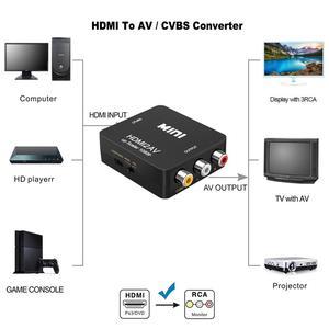 Image 2 - Hdmi2av av 스케일러 어댑터 hd 비디오 컨버터 박스 hdmi to rca av to vga av/cvsb l/r 비디오 1080 p av2hdmi