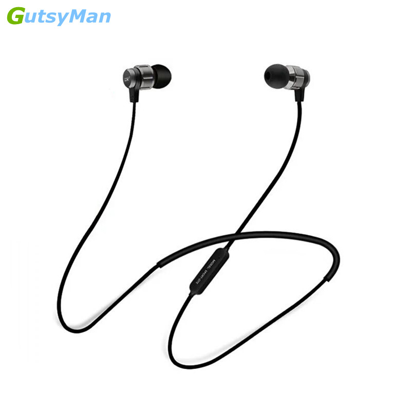 GutsyMan Neckband Bluetooth Sport Earphone Wireless headphone For Xiaomi iPhone earbuds bass auriculares fone de ouvido with MIC bluetooth earphone headphone for iphone samsung xiaomi fone de ouvido qkz qg8 bluetooth headset sport wireless hifi music stereo