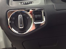 Car Light Switch Cover Headlight Adjustment Decorative Frame Mirror For Nissan Qashqai 2015 YT-71606