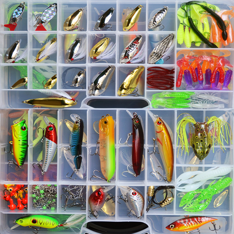 Galeoid lure set freshwater set paillette soft lure frog fishing tackle lure
