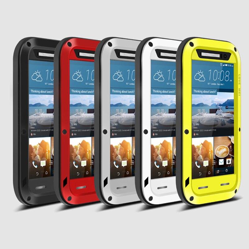 imágenes para Amor Mei Cubierta Armor Funda Impermeable para HTC M8 M9 M10 U11 Desire 820 A9 E8 Fundas Shell Vivienda Agua/Dirt/Golpes/Lluvia prueba