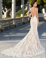 Najowpjg 2017 New Design Luxury Beading Backless Ivory Mermaid Wedding Dress Delicate Appliques V-Neck Vestido De Noiva Hot Sale