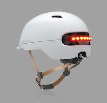 Novo Xiaomi Smart4u Uso Capacete Capacetes de Bicicleta À Prova D' Água Flash Inteligente Fosco Longa Back Light Mountain Road Scooter Para Mulheres Dos Homens