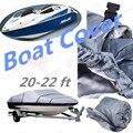Nova Tampa Do Barco de Pesca Lancha Acessórios V-Casco 210D pano 20-22ft Sunproof UV Protegido À Prova D' Água