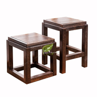 New Chinese Household Living Room Low Stool Tea Square Shoes Chair Sofa Table Tea Small Plates Stool