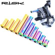 RISK Riad Bike Brake Caliper Nuts Titanium M6 Bicycle Brake Caliper Bolts With Gasket For SHIMANO 105 / ULTEGRA Bike Brake Parts цена и фото
